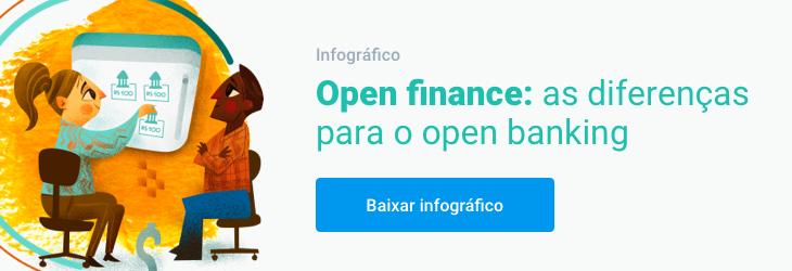 Banner Infográfico: Open Finance As diferenças para o open banking